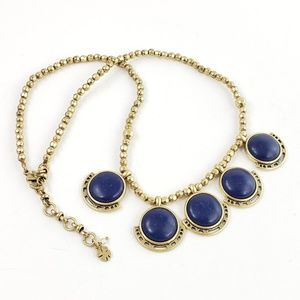 Lucky Brand Jewelry - Lucky Brand Statement Necklace 5 Blue Pendants